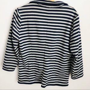 Cynthia Rowley Jackets & Coats - Navy & Grey Striped Blazer